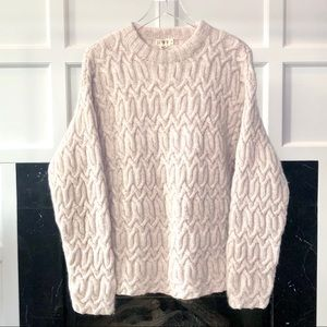 JCREW Heavy 100% Wool Chunky Cable Knit Sweater XL